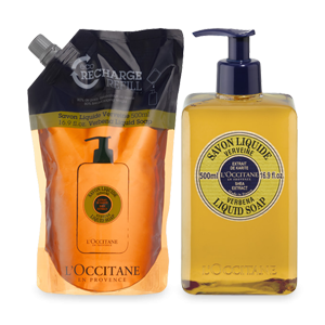 L'Occitane Shea Liquid Soap Verbena Eco Duo