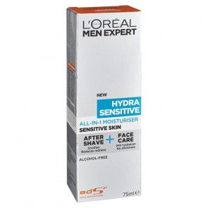 L'Oreal Men Expert Hydra Sensitive All-in-1 Moisturiser 75ml