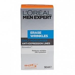 L'Oreal Men Expert Erase Wrinkles Daily Moisturiser 50ml