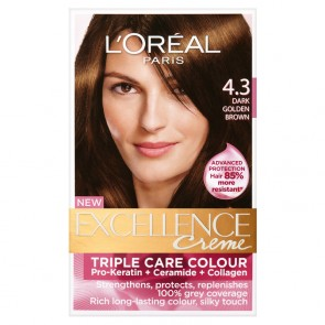 L'Oreal Excell 4.3 Dark Golden Brown *Disc*
