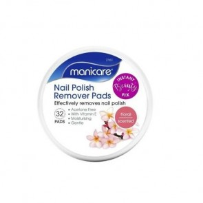 Manicare Nail Polish Remover Pads Floral/Coconut
