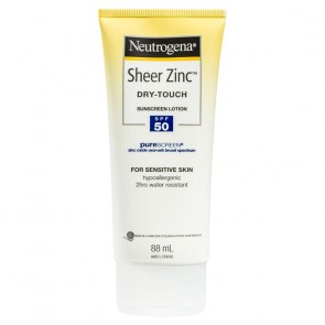 Neutrogena Sheer Zinc Dry-Touch Sunscreen Lotion SPF 50+ 88 ml