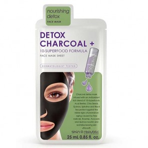 Skin Republic Detox Charcoal + 10 Superfood Formula Face Mask Sheet