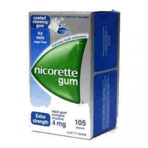 Nicorette Icy Mint Nicotine Replacement Gum 4mg 105 pieces