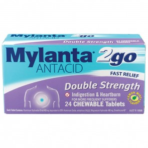 Mylanta 2go Double Strength Chewable Tablets 24's