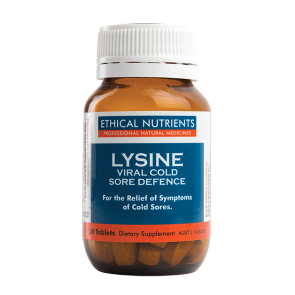 Ethical Nutrients Lysine Viral Cold Sore Defence 30 Tablets