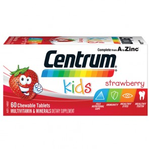 Centrum Kids Strawberry Chewables 60 Tablets