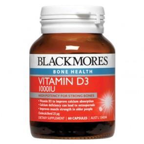 Blackmores Vit D3 1000iu 60 Capsules