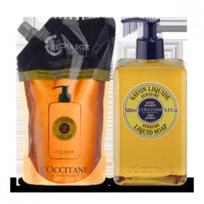 L'Occitane Shea Liquid Soap Verbena Eco Duo