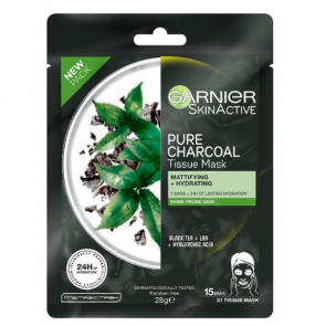 Garnier Pure Charcoal Tissue Mask- Mattifying and Hydrating