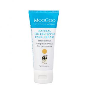 Moogoo Natural Tinted SPF 40 Face Cream
