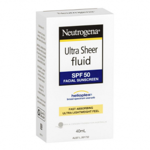 Neutrogena Ultra Sheer Fluid Facial Sunscreen SPF 50+
