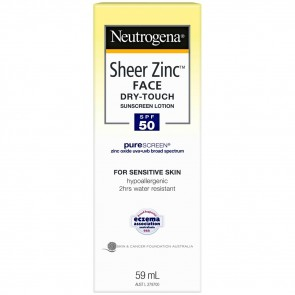 Neutrogena Sheer Zinc Face Dry-Touch Sunscreen Lotion SPF 50+ 59 ml