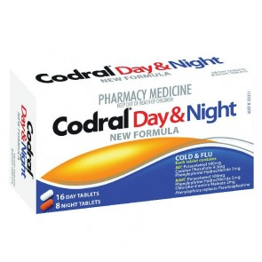 Codral Pe Cold & Flu Tablets Day & Night 24 Tablets